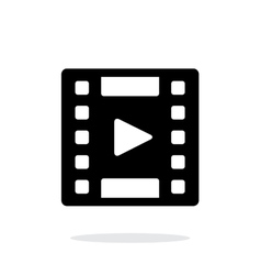 Video icon on white background vector