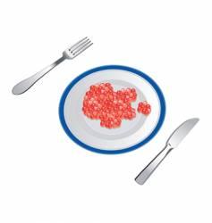 Appetizing caviar vector