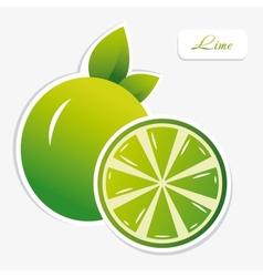 Lime sticker vector