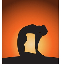 Woman in yoga pose vector