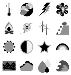 Climate icons on white background vector