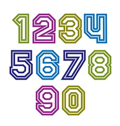 Colorful regular stripy numeration modern poster vector
