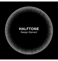White abstract halftone circle logo design element vector