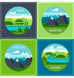 Backgrounds with of mountain and vector