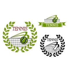 Green tennis sports game icon or symbol vector