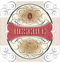 Ornate label design vector