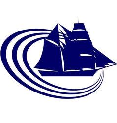 Sailing ship 2 vector