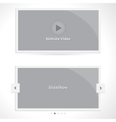 Slideshow and video vector