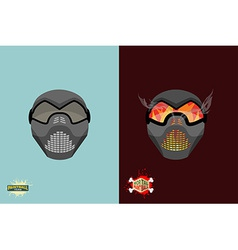 Set paintball mask vector