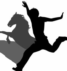 Horse shadow vector