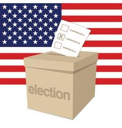 Us election ballot box vector