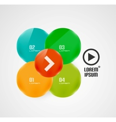 Circles presentation template vector