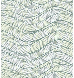 Vintage hand-drawn abstract pattern with wave vector