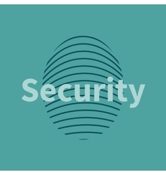 Fingerprint icon with security text vector