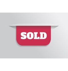 Bookmark sticker label tag with text sold vector