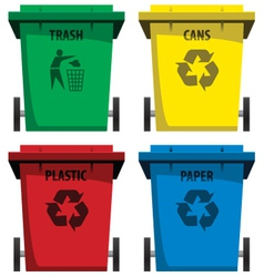 Recycle bins vector