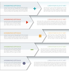 Modern arrow elements of infographic vector