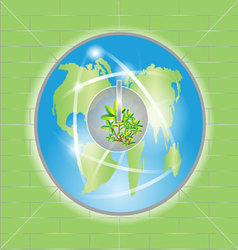 Power of green earth vector