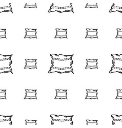 White pillow background vector