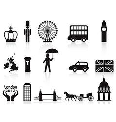 London icons set vector