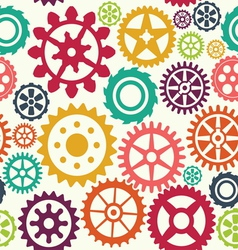 Gear seamless pattern vector