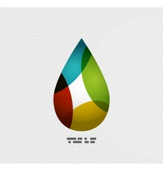 Colorful paper water drop vector
