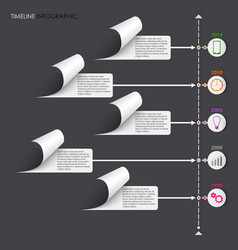 Time line info graphic withe stickers template vector