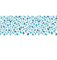 Blue mosaic texture horizontal border vector