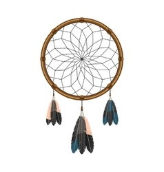 American indian dream catcher icon vector