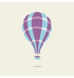 Hot air balloon on the sky vector