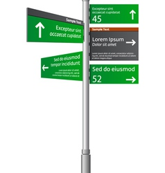 Road signs with arrows vector