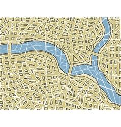Fractured map vector