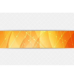 Orange bright hi-tech background vector