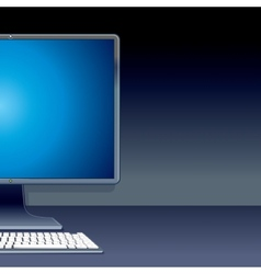 Personal desktop computer pc vector
