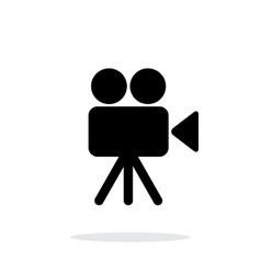 Camera icon on white background vector