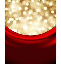 Christmas background with red silk vector