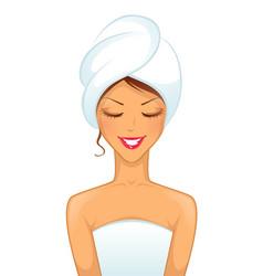 Woman spa vector