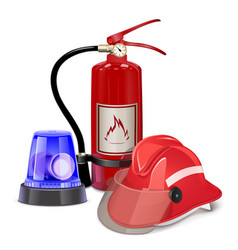 Fire prevention concept vector