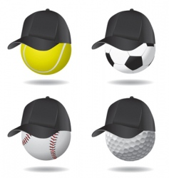 Sport ball with hat vector