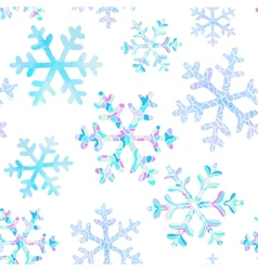 Seamless pattern with falling snowflakes vector