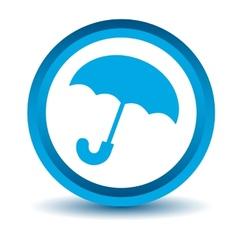 Blue umbrella icon vector