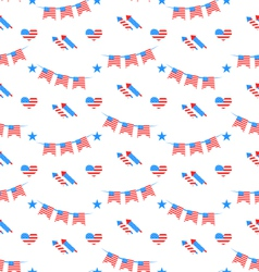 American patriotic seamless pattern us national vector