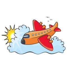 Orange aeroplane vector