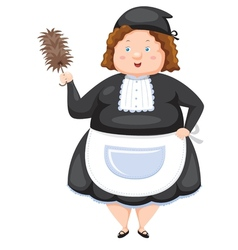 Woman dressed maid vector