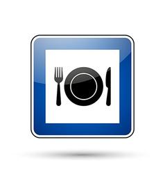 Restaurant road sign vector