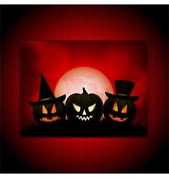 Halloween panel background vector