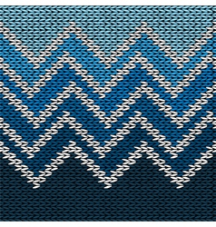 Knitted stylized geometric pattern with wave vector