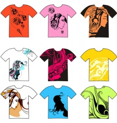 T-shirt collection vector