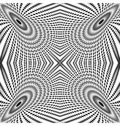 Design monochrome circle movement background vector