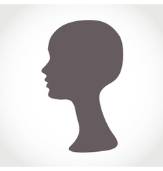Mannequin female head basis for wig vector